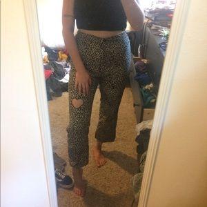 Brand New Leopard Print Jeans